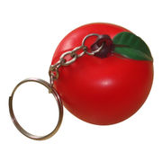 China PU apple-shaped keychain