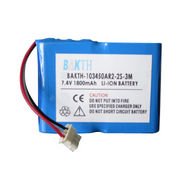 Lithium-ion Battery Pack, 103450AR2 2S1P, 7.4V, 1,800mAh, 13.32Wh, RoHS Mark from Shenzhen BAK Technology Co. Ltd