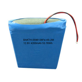 Lithium Iron Phosphate Rechargeable Battery Pack, 5596136Fe, 4S1P, 12.8V, 4,200mAh, 53.76Wh from Shenzhen BAK Technology Co. Ltd