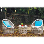 outdoor furniture PE wicker dining set weaving alu from China (mainland)