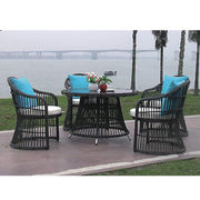 PE wicker dining set from China (mainland)