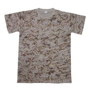 Camouflage Printed T-shirt from China (mainland)