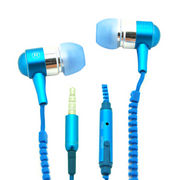 New product 2014 full noise-cancelling earphone with zipper