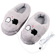 Plush USB Laptop PC Electric Heating Slippers Heat from China (mainland)
