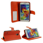Foldable PU leather mobile phone case for Samsung S5 from China (mainland)