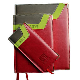 High Grade PU Leather Diaries, Various Leather Colors are Available from Beijing Leter Stationery Manufacturing Co.Ltd