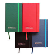 China PVC-coated Paper Notebook with Elastic Band