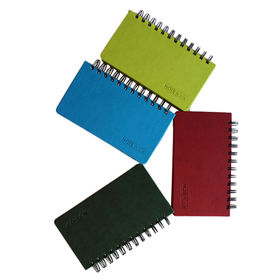Spiral notebook, different leather colors are available from Beijing Leter Stationery Manufacturing Co.Ltd