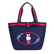 Canvas hand bag manufacturer, with bow-knot around the closure, for girls and ladies from Fuzhou Oceanal Star Bags Co. Ltd