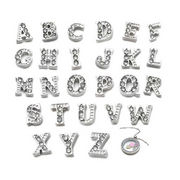 Wholesale 26 Initial Letter A-Z Crystal Floating Charms Living Memory Lockets
