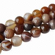 6-18mm Botswana brown banded agate semi-precious loose beads gemstone from China (mainland)