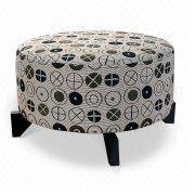 fabric ottoman,hotel furniture,custom furniture,fabric stool,fabric hotel furniture