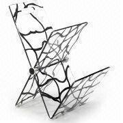 Acrylic Magazine Rack, Suitable for Living Room and Restaurant Furniture