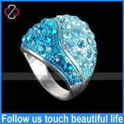 Wholesale Unique Aquamarine Diamond Rings Jewelry Design