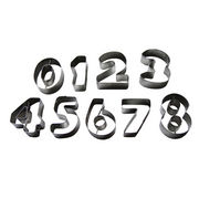 9pcs numbers cookie cutter set from China (mainland)