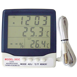 China Indoor/Outdoor Hygro-thermometer and Clock (AT-303C)