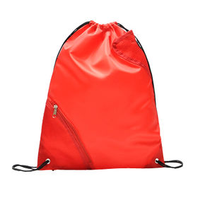 Nylon Drawstring Bag with Simple Red Design, Waterproof and Durable, Can be Handled or on Backs from Fuzhou Oceanal Star Bags Co. Ltd