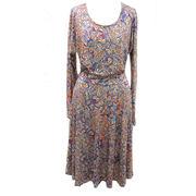 Ladies' peacock print dresses from Hong Kong SAR