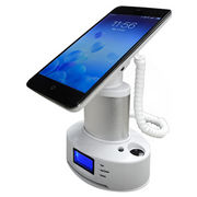 China Mobile phone security display stand,LED screen with charging function