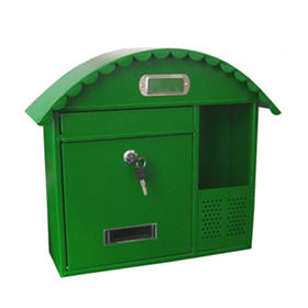 Mailbox, Simple Appearance Metal Mailbox, Wall Mounted Mailbox: W415*D160*H320mm