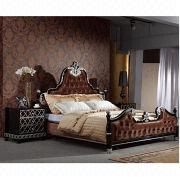 Hand-carved Fabric Bed from China (mainland)