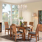 Modern wooden extension dining room furniture from China (mainland)