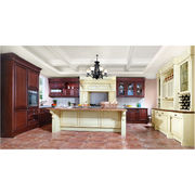 Cherry solid wood kitchen cabinet from China (mainland)