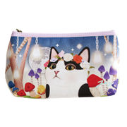 Promotional cosmetic bags, made of polyester and PVC, with cute cat design, Korea star-like design from Fuzhou Oceanal Star Bags Co. Ltd