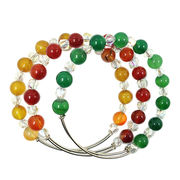 2015 new alex and ani style natural agate bead bra from China (mainland)