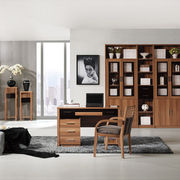 Modern glossy walnut bookcase set from China (mainland)
