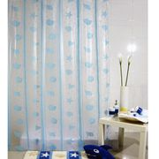 China Factory Directly Sales New Designs Semi Transparent PEVA Shower Curtain With 12 Hooks