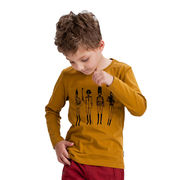 Boy's round collar/long-sleeved T-shirt from China (mainland)