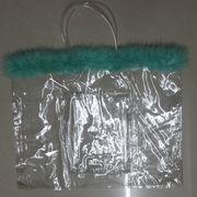 Clear zippered handbag tote-bag from China (mainland)