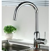 Lead-free Multi-flow Single Handle Kitchen Faucet with CP Finish, NSF/cUPC and AB1953 Marks