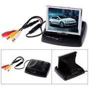 4.3-inch folded car PC monitor with 2 AV input