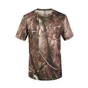 Round Neck Short Sleeves Camouflage Mesh T-shirt from China (mainland)