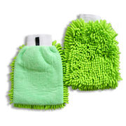Chenille and Microfiber Cleaning Gloves, Suitable for Washing and Household Purposes