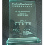 Clear acrylic trophy from China (mainland)