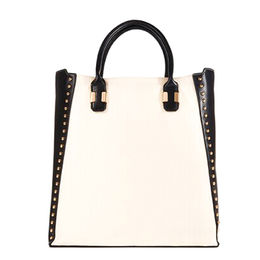 China Ladies handbags made of PU leather, Tote studded