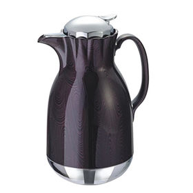 Vacuum flask silver and dark purple circle color from Chine Lee Industrial Co. Ltd