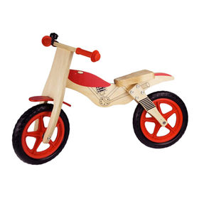 New wooden balance bike toy for kids, unit measures 84x57x40cm