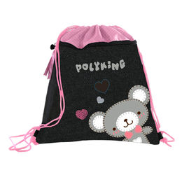 High quality jean cute bear design drawstring gift from China (mainland)