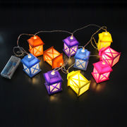 2014 Latest 10 LED Lantern Battery String Light from China (mainland)
