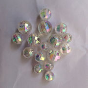 10mm AB Color Earth Shape Beads, Made of PS Material, Various Colors are Available