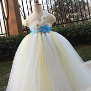 Hot Sale Fluffy Floral Girl's Dress from China (mainland)