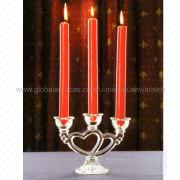 Glass Candle Holder in Double-heart Design, Ideal for Wedding and Valentine's Day from U&Me Elegance Houseware Manufacturing Co. Ltd