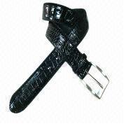 Men's patent snake PU leather belt from China (mainland)
