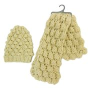 Acrylic Knit Scarf Set, OEM Designs are Welcome