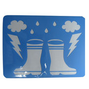 China Eco-friendly PP/PET plastic drawing stencils and templates for children