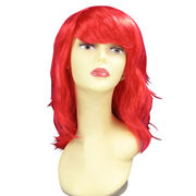 Popular design red curly party wigs Manufacturer